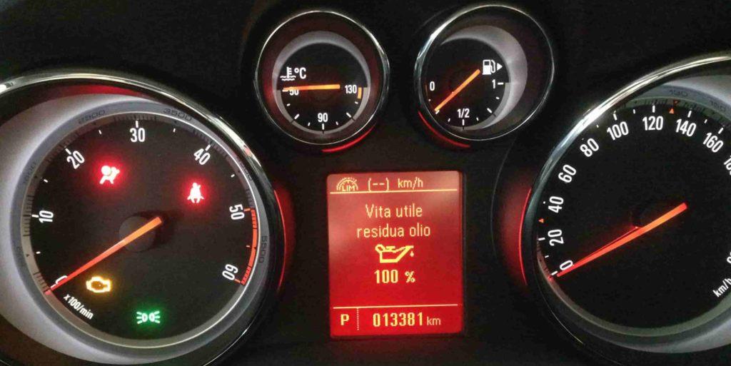 7 reset service Opel Mokka